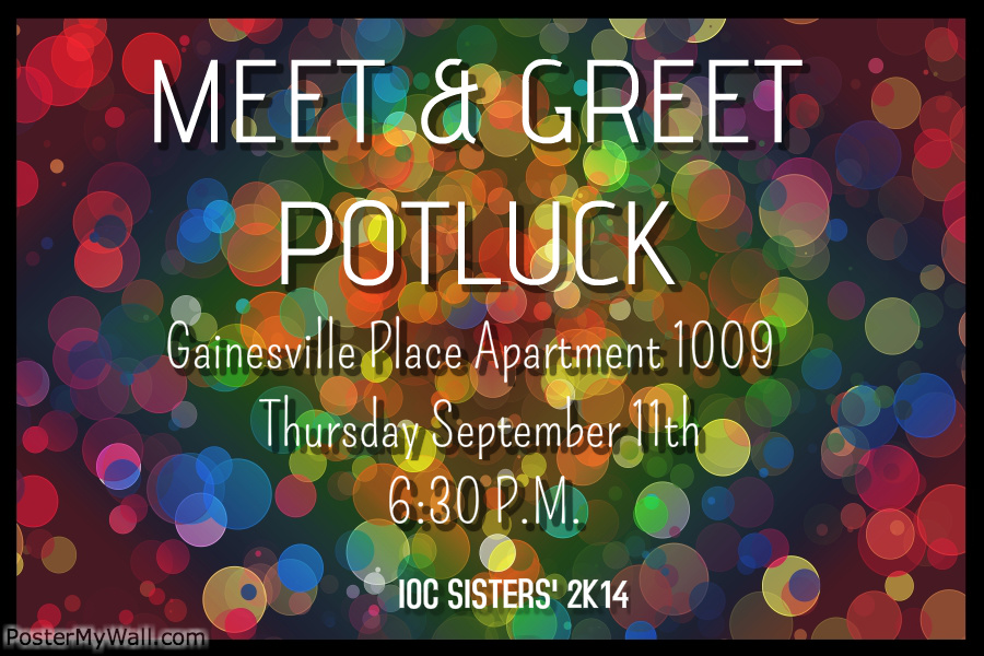 Meet and Greet | Sisters' Potluck | Sisters' Event